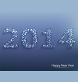 happy new year 2014 celebration background vector image vector image