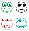 image of an frog face vector image vector image