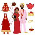 Indian wedding set vector image