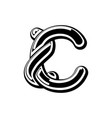 letter c celtic font norse medieval ornament abc vector image vector image