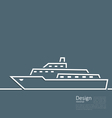 Logo of ship in minimal flat style line vector image vector image