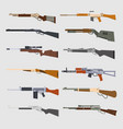machine guns set vector image vector image