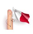 malta flag waving vector image
