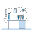 medical laboratory and elements vector image vector image