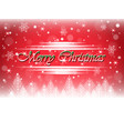 merry christmas postcard background vector image vector image