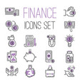 money finanse banking icons business safety online vector image vector image