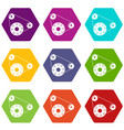 motor icons set 9 vector image vector image