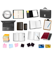 office and business supplies and busines vector image vector image