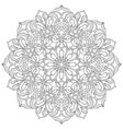 ornamental floral mandala vector image vector image