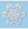 Paper snowflake winter decoration vector image vector image