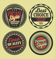 pastel color vintage labels collection 4 vector image vector image