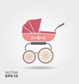 pink baby pram icon vector image