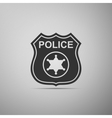 Police badges icon vector image vector image