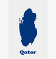 qatar country map concept for political economic vector image vector image