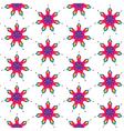 Rainbow seamless pattern of flowers vector image