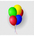 realistic bunch helium balloons isolated vector image vector image