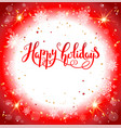 red festive card vector image vector image