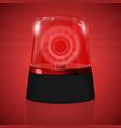 red siren flashing emergency light