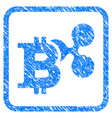 ripple and bitcoin framed stamp vector image vector image