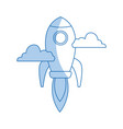 rocket launching as a metaphor for start up vector image vector image