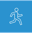 running man icon simple symbol of run isolated vector image vector image