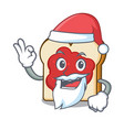 santa bread with jam mascot cartoon vector image