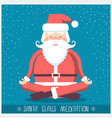 santa claus doing yoga meditation christmas vector image vector image