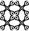 seamless floral monochrome pattern with abstract vector image vector image