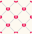 seamless geometric pattern with bright red vector image vector image