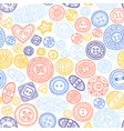 seamless pattern with cloth buttons in boho style vector image vector image