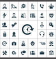 service icons universal set for web and ui vector image