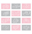 set love valentines day cards templates vector image vector image