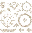 set of line design elements vector image vector image