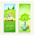 Set of Two Easter Cards vector image vector image