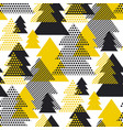 simple cool geometric christmas tree pattern vector image
