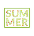 summer word made leaves and flowers pattern vector image vector image