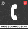 telephone handset telephone receiver symbol icon vector image vector image