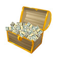 treasure chest 02 vector image