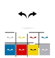 Undo and redo arrows icon vector image vector image