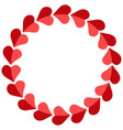 valentine frame hearts round photo frame vector image