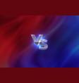 versus concept vs letters sport competition vector image