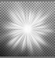 white burst glowing light explosion effect eps 10 vector image