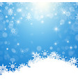 winter background - white snowflakes on blue vector image vector image