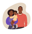 young african-american family portrait mom dad vector image vector image