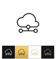 Cloud computer technology icon vector image