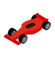 Red racing car isometric 3d icon vector image