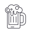 beer line icon sign vector image