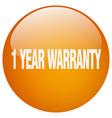 1 year warranty vector image vector image