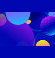 abstract trendy gradient shapes composition vector image