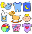 art of object baby doodles vector image vector image